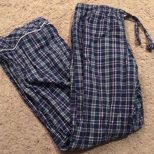 Blue plaid Victoria's Secret pajama pants